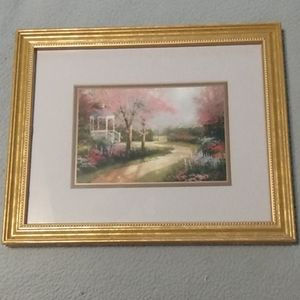 Thomas kinkade accent print with certificate of au